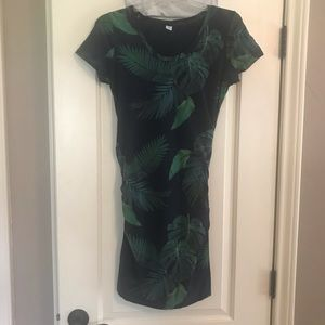 Botanical maternity fitted dress